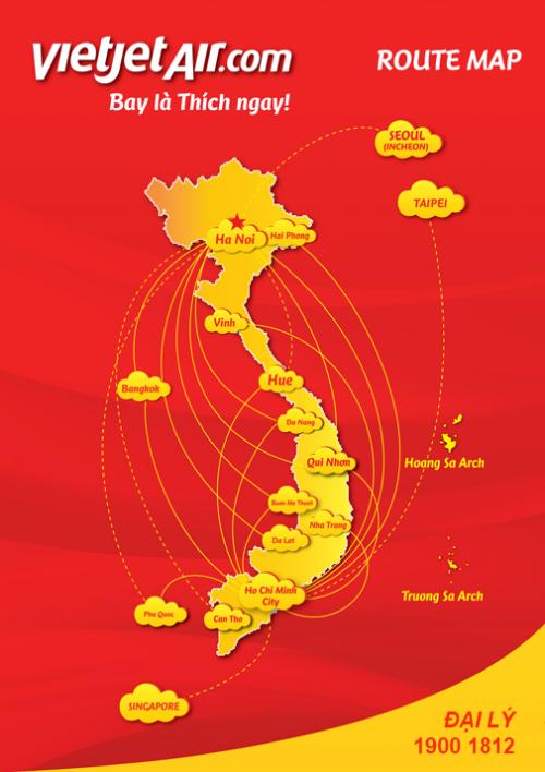 Đại lý vé máy bay Vietjet Air tại Châu Thành